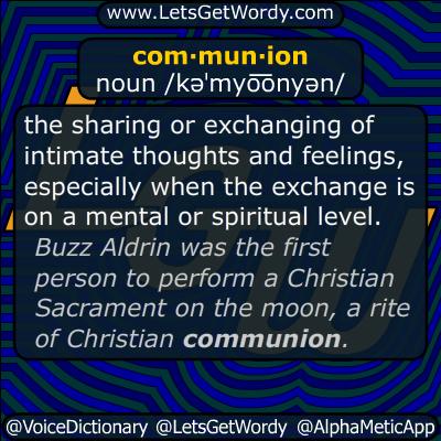 Communion 07/20/2019 GFX Definition