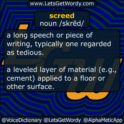screed 07/22/2019 GFX Definition
