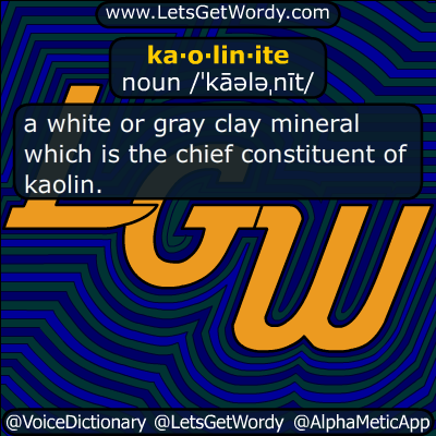 kaolinite 07/24/2019 GFX Definition