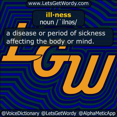 illness 08/05/2019 GFX Definition