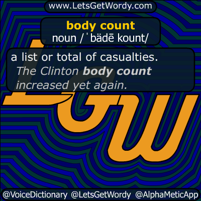 body count 08/11/2019 GFX Definition