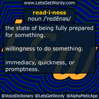 readiness 09/16/2018 GFX Definition