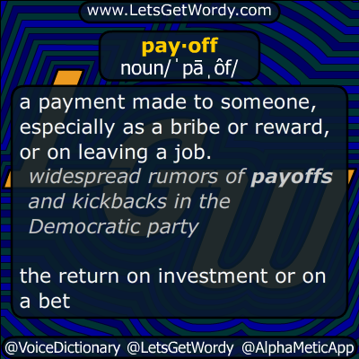 payoff 10/04/2019 GFX Definition
