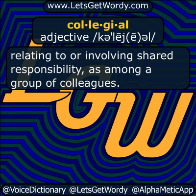 Collegial 10/06/2018 GFX Definition