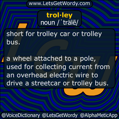 trolley 10/10/2019 GFX Definition of the Day