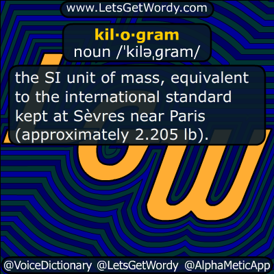 kilogram 11/03/2018 GFX Definition