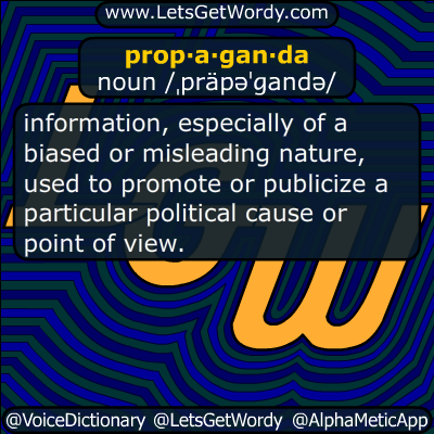 propaganda 11/10/2018 GFX Definition
