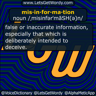 misinformation 11/27/2018 GFX Definition