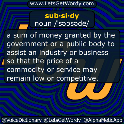 subsidy 11/28/2018 GFX Definition