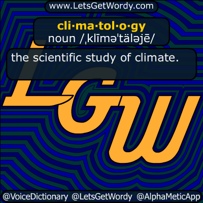 climatology 12/09/2018 GFX Definition