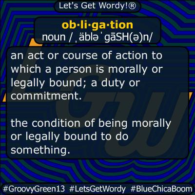obligation 12/27/2019 GFX Definition